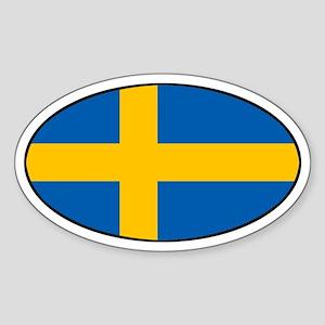 Sweden (SWE) Flag Oval Sticker