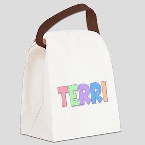 Terri Rainbow Pastel Canvas Lunch Bag