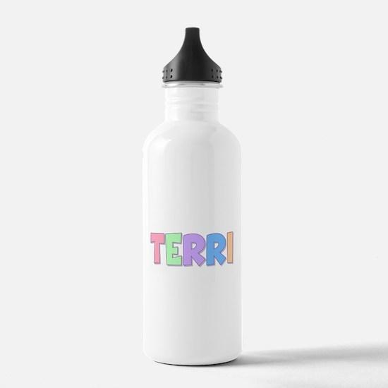 Terri Rainbow Pastel Water Bottle