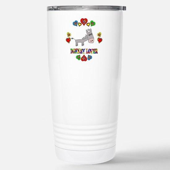 Donkey Lover Stainless Steel Travel Mug