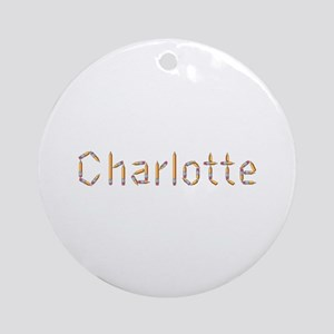 Charlotte Pencils Round Ornament