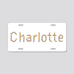 Charlotte Pencils Aluminum License Plate