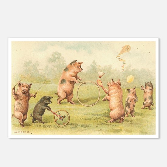 Playful Pigs Postcards (Package of 8)