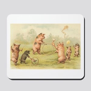 Playful Pigs Mousepad