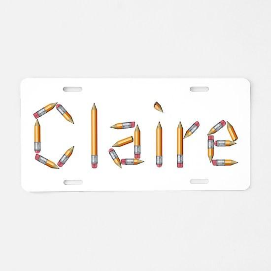 Claire Pencils Aluminum License Plate