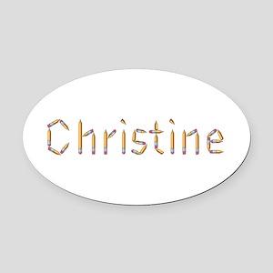 Christine Pencils Oval Car Magnet