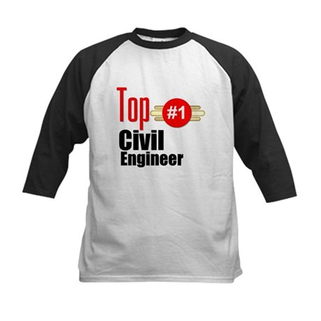 Top Civil Engineer Kids Baseball Jersey