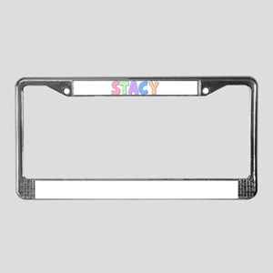 Stacy Rainbow Pastel License Plate Frame