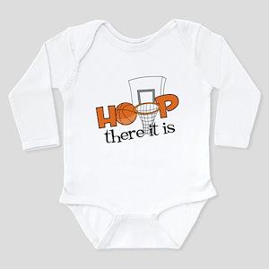 Hoop There It Is Long Sleeve Infant Bodysuit