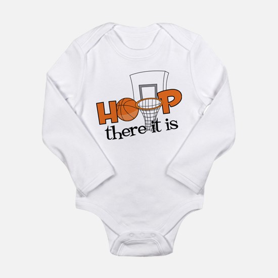 Hoop There It Is Long Sleeve Infant Bodysuit