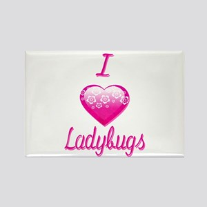 I Love/Heart Ladybugs Rectangle Magnet