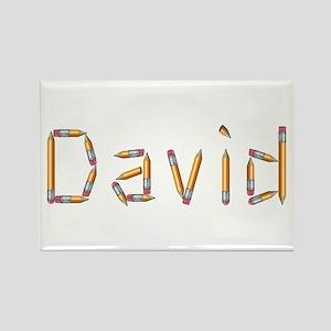 David Pencils Rectangle Magnet