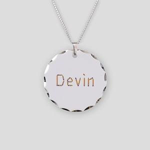 Devin Pencils Necklace Circle Charm