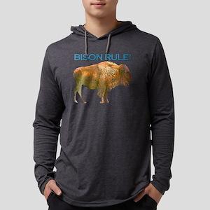 bison rule Mens Hooded Shirt