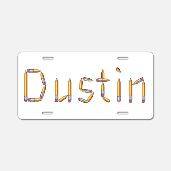 Dustin Pencils Aluminum License Plate