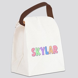 Skylar Rainbow Pastel Canvas Lunch Bag