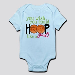 Hoop Like A Girl Infant Bodysuit