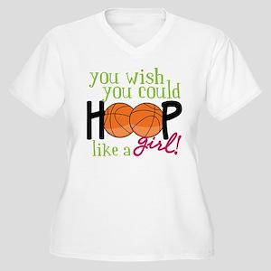 Hoop Like A Girl Women's Plus Size V-Neck T-Shirt
