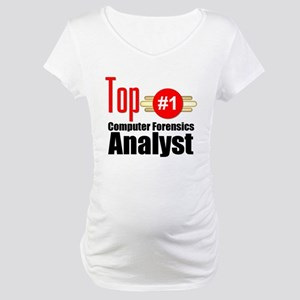 Top Computer Forensics Analyst Maternity T-Shirt