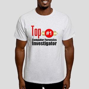 Top Computer Forensics Investigator Light T-Shirt