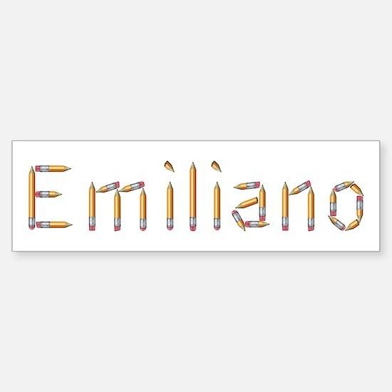 Emiliano Pencils Bumper Bumper Bumper Sticker