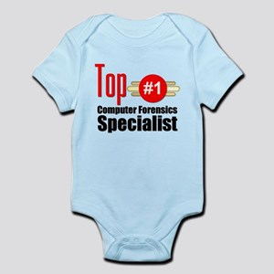 Top Computer Forensics Specialist Infant Bodysuit