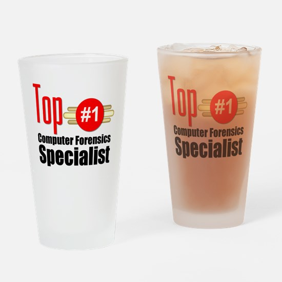 Top Computer Forensics Specialist Drinking Glass