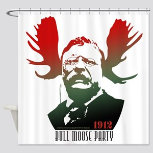 Bull Moose Party Shower Curtain