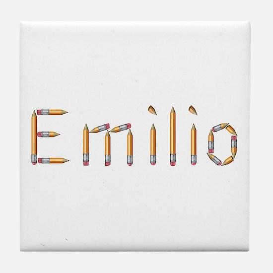 Emilio Pencils Tile Coaster