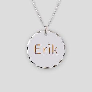 Erik Pencils Necklace Circle Charm