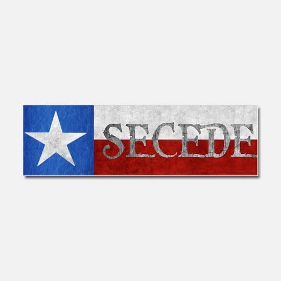 Texas - Secede Car Magnet 10 x 3