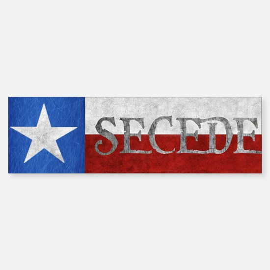 Texas - Secede Sticker (Bumper)
