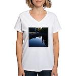 River Reflections Women's V-Neck T-Shirt
