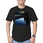 River Reflections Men's Fitted T-Shirt (dark)