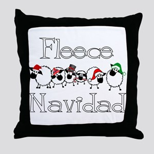 Fleece Navidad Throw Pillow
