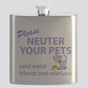 NEUTER YOUR PETS Flask