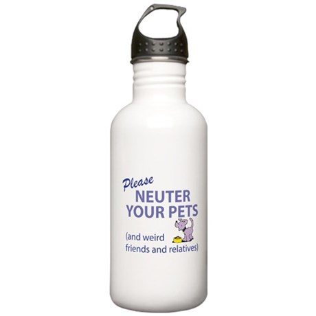 NEUTER YOUR PETS Stainless Water Bottle 1.0L