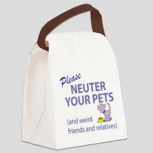 NEUTER YOUR PETS Canvas Lunch Bag