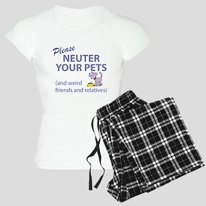NEUTER YOUR PETS Women's Light Pajamas