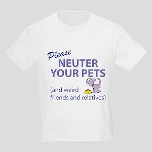 NEUTER YOUR PETS Kids Light T-Shirt