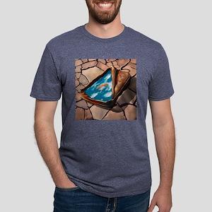 dry_lake_throw_pillow Mens Tri-blend T-Shirt