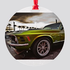 70 Mustang Mach 1 Round Ornament