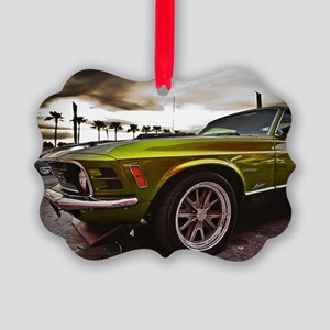 70 Mustang Mach 1 Picture Ornament
