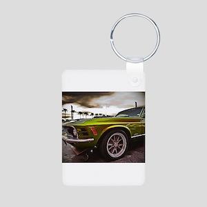 70 Mustang Mach 1 Aluminum Photo Keychain