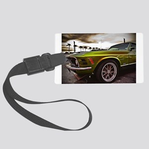 70 Mustang Mach 1 Large Luggage Tag