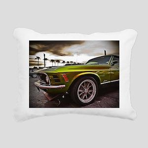 70 Mustang Mach 1 Rectangular Canvas Pillow