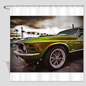 70 Mustang Mach 1 Shower Curtain