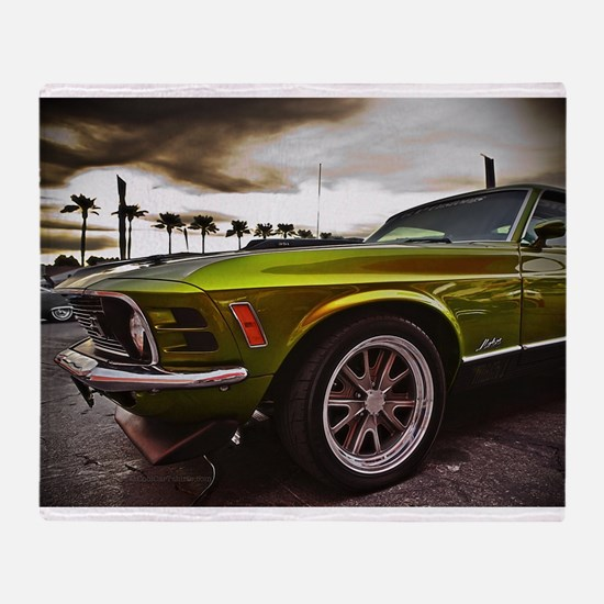 70 Mustang Mach 1 Throw Blanket