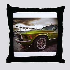 70 Mustang Mach 1 Throw Pillow