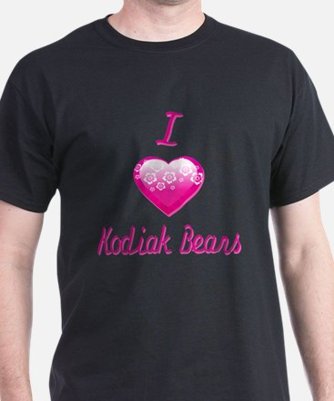 I Love/Heart Kodiak Bears T-Shirt